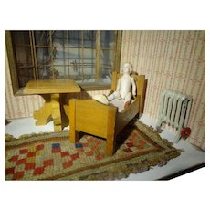 Doll House Bed and Side Table