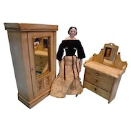 Lovely Dresser and Armoire for French Fashions