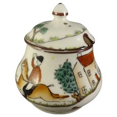 Miniature Crown Staffordshire Pot with Lid