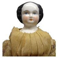 "Early 7"" Black Hair China Doll"