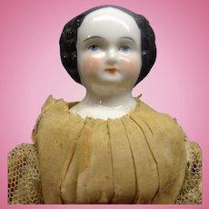 "Early 7"" Black Hair China Doll"