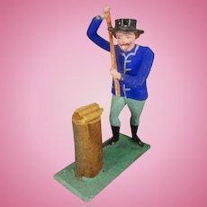 Erskebirge Man Chopping Wood