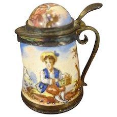 Miniature Austrian Enamel Tankard