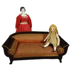 Biedermeier Doll House Sofa