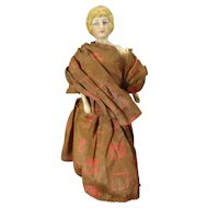"""6 1/2"""" Bisque Doll House Lady with Fancy Hair"""