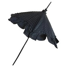 Fancy Doll Parasol with Original Ruffled Cover