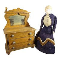 """5 1/2"""" Doll House Lady in Original Costume"""
