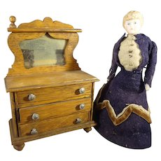"5 1/2"" Doll House Lady in Original Costume"