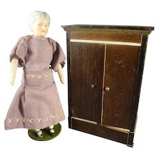 Doll House Biedermeier Armoire Wardrobe