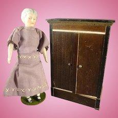 Doll House Biedermeier Armoire Wardrobe