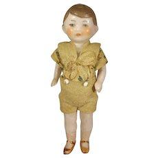 All Bisque Flapper Boy Doll