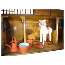 Great Felt Covered Horse on Platform