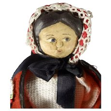 "11"" Wood Side Glancing Doll"