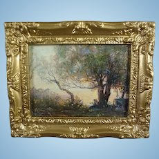 Miniature Landscape Painting after Camille Carot