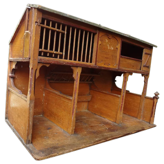 German Three Stall Barn with Hay Loft