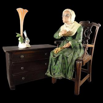 Papier Mache Seated Lady