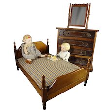 Doll Bed and Four Drawer Chest