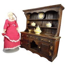 Step Back Cupboard Hutch for Doll House