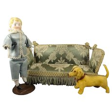 Fabulous Upholstered Sofa for Doll House
