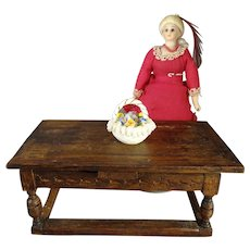 English Oak Extension Table for Doll House