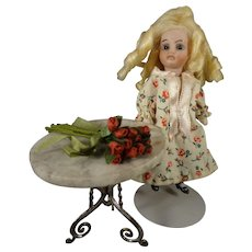 "4"" All Bisque Doll with Swivel Head"