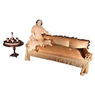 Antique Fashion Doll Size Sofa