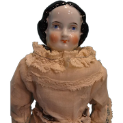 """11"""" Black Hair China Doll with Orange Boots"""