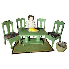 German Doll House Table and Chairs