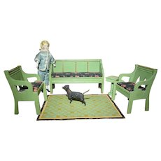 German Doll House Settee and Chairs