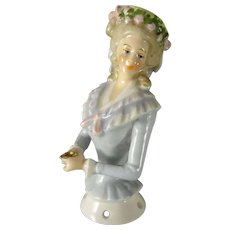 Porcelain Half Doll with Arms Away