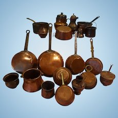 Group of Miniature Copper for Shop or Kitchen