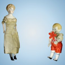 "6"" Bisque Doll House Lady"