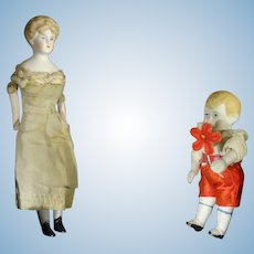 """6"""" Bisque Doll House Lady"""