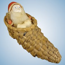 Santa in Wicker Shoe