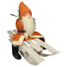 German Santa on a Sled