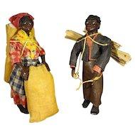 Pair Vargas Black Wax Dolls