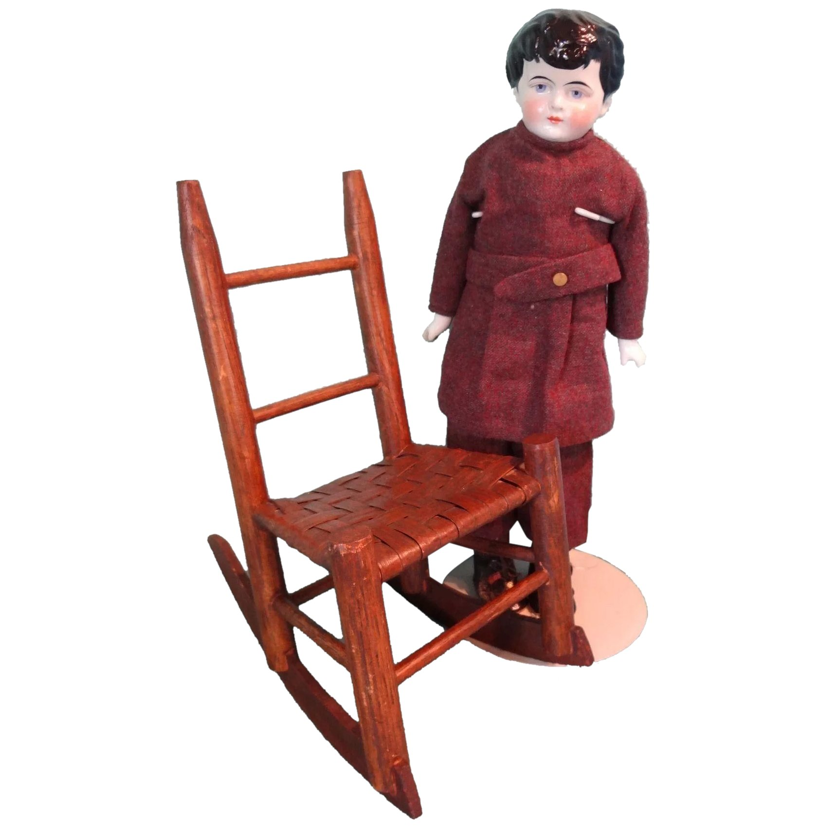 doll size wood rocking chair