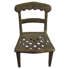Evans and Cartwright Doll House Metal Chair