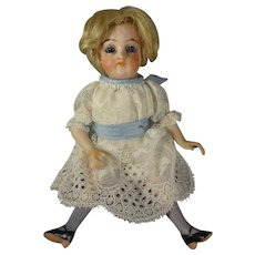 "6"" All Bisque Doll With Glass Eyes"