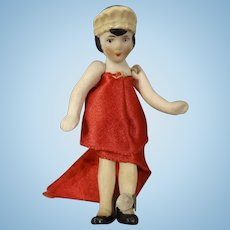 Wonderful Tiny Flapper Doll All Bisque