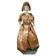 """7"""" Bisque Doll House Doll with Formed Bust and Gold Boots"""