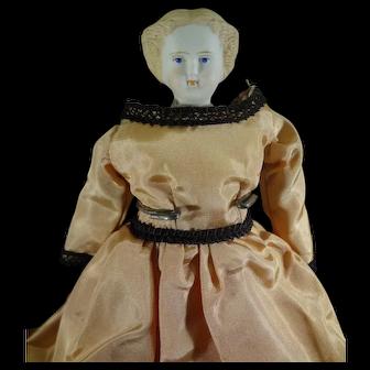 "8"" Parian Doll with Blonde Sculpted Hair"