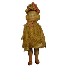 "3 1/4"" All Bisque Doll Pin Jointed"