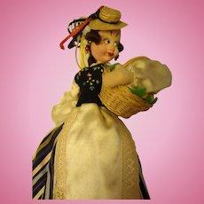 "11"" Klumpe Doll Holding Basket"