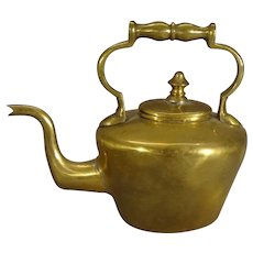 Miniature Brass Teapot with Gooseneck Spout