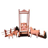 German Doll Swing and Bisque Doll