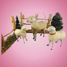Group of Three German Putz Sheep