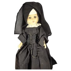 "11"" Nun Doll Articulated with Sleep Eyes"