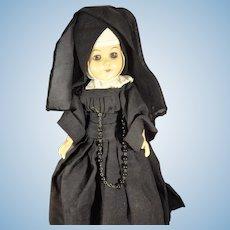 """11"""" Nun Doll Articulated with Sleep Eyes"""