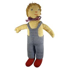 "10"" Knit Doll with a Happy Face"